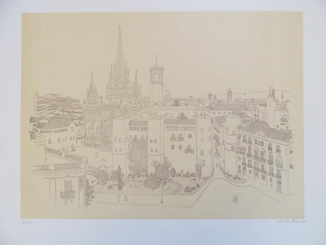 Aurora Altisent arte litografía dibujo moderno catedral de Barcelona