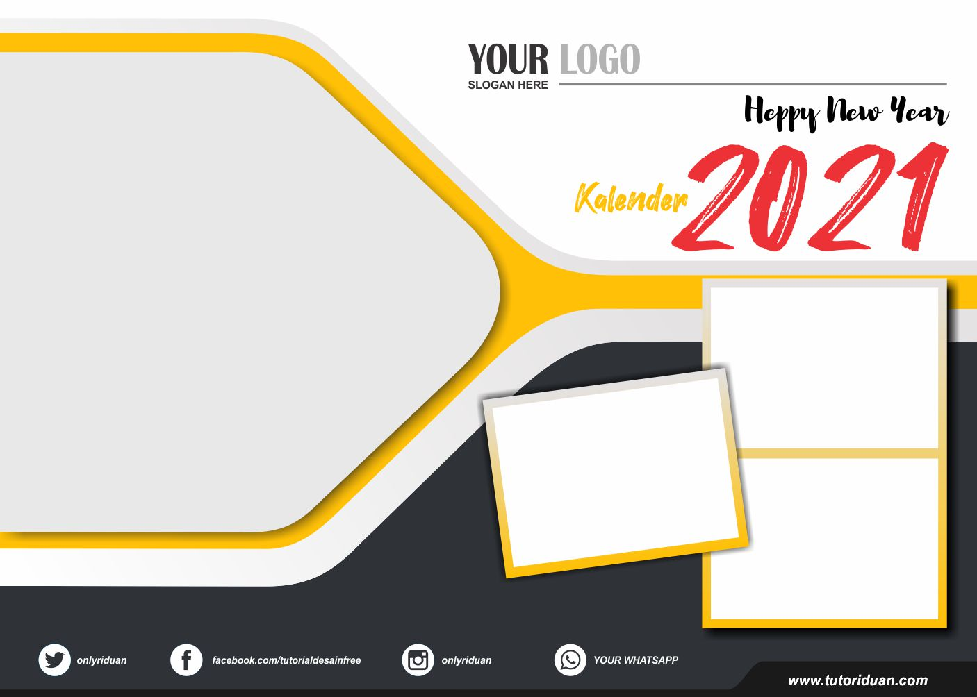 Desain Kalender Duduk 2021 dengan CorelDraw (Free CDR ...