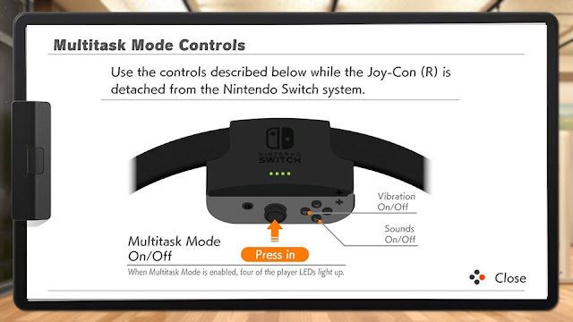 Ring Fit Adventure Multitask Mode Controls Ring-Con Joy-Con