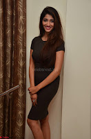 Priya Vadlamani super cute in tight brown dress at Stone Media Films production No 1 movie announcement 072.jpg