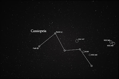 Cassiopeia with labels
