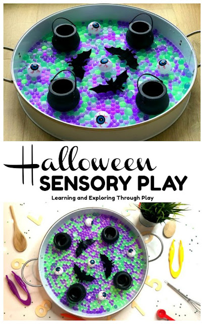 Halloween Water Bead Sensory Play