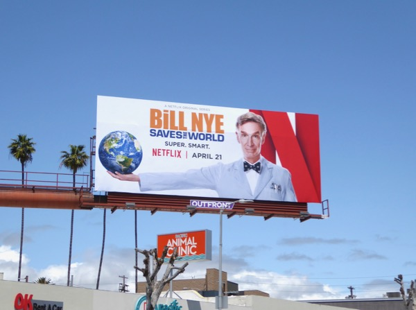 Bill Nye Saves the World TV series billboard