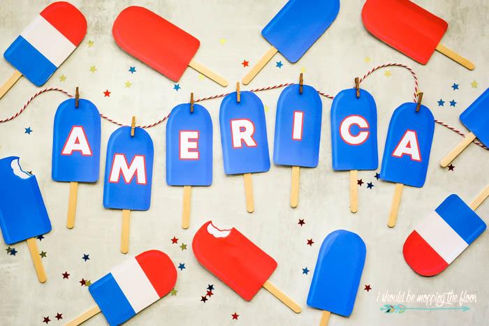 Printable AMERICA Banner