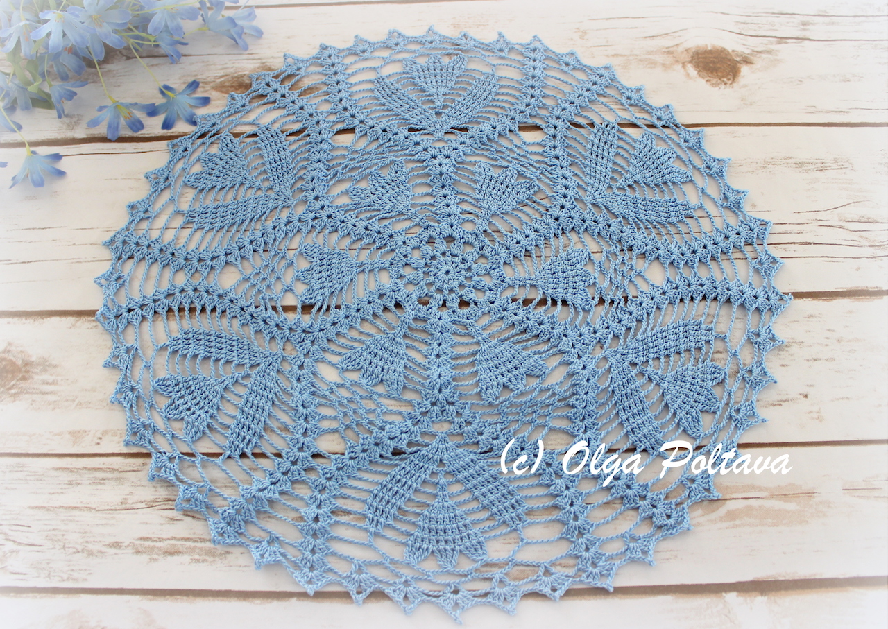 Free Crochet Round Tablecloth Patterns Youtube Premium With Doily Pattern Butterflies Circular In My Look Like Crocuses Tulips No Not Exactly Just Some Spring Flowers So I Named This