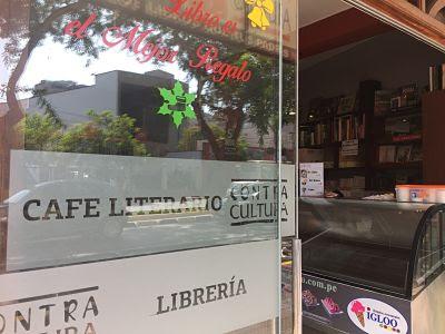 MIraflores. Lima. Perú. Café literario. librería