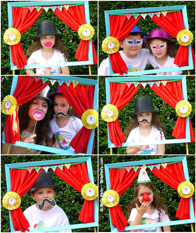 big top circus carnival inspired birthday party ideas and printables photo booth