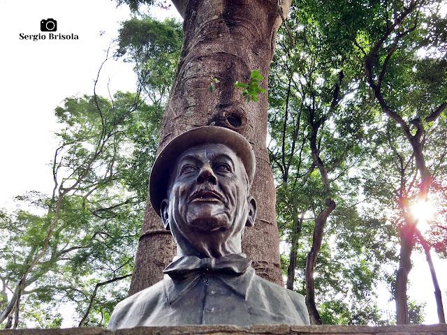 Close-up da Escultura Adoniran Barbosa (busto) - Praça Dom Orione - Bela Vista - São Paulo
