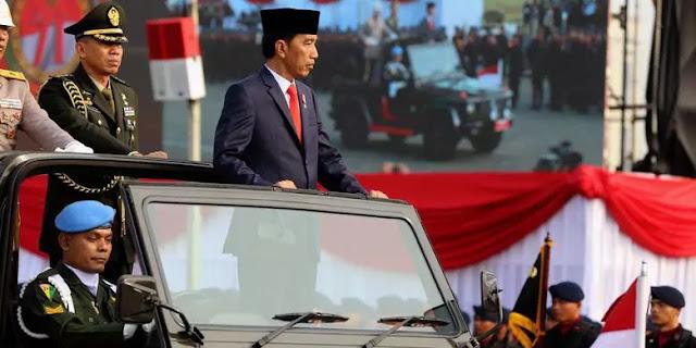 Presiden Jokowi Pimpin Upacara HUT ke-71 Bhayangkara