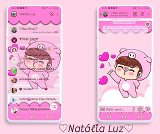 Girls Cutte 3 Theme For YOWhatsApp & Fouad WhatsApp By Natalia Luz