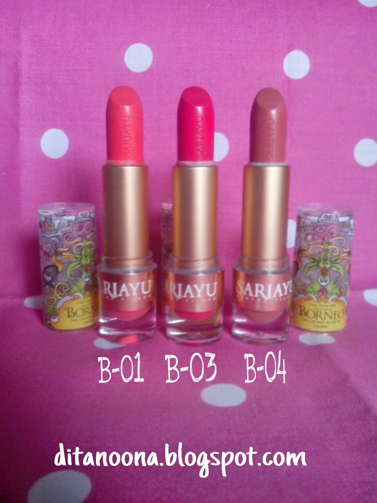 simply beauty: Review : Sariayu Lipstick Seri Borneo B-01