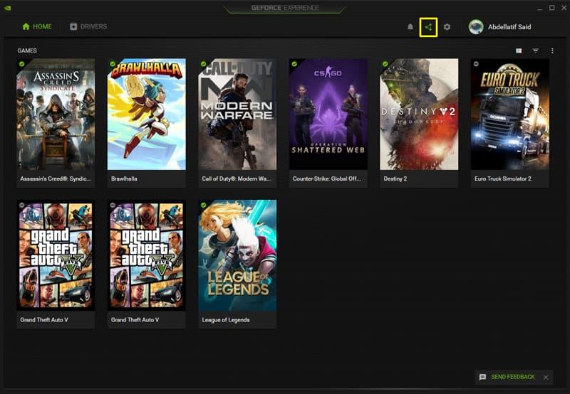 برنامج nvidia experience لتسجيل شاشة الكمبيوتر و تسجيل الالعاب من موضوع افضل 5 برامج تسجيل الالعاب علي الكمبيوتر مجاناً