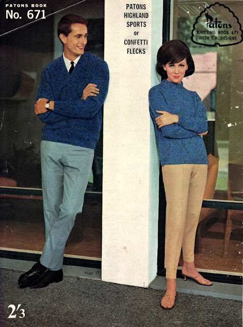 The Vintage Pattern Files: Free 1960s Knitting Pattern - Patons Book No.671 Family Knitting Pattern Booklet