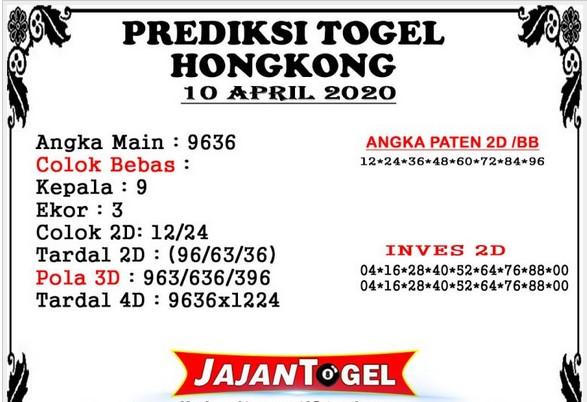 Prediksi Togel Hongkong Jumat 10 April 2020 - Prediksi Jajan Togel