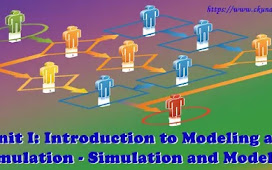 Unit I: Introduction to Modeling and Simulation - Simulation and Modeling