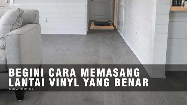 cara pasang vinyl
