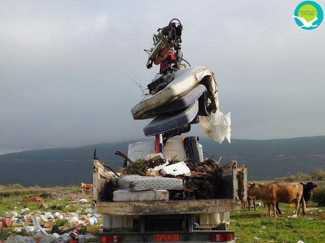 Απομάκρυνση 100 τόνων σκουπιδιών από το Έλος Αμμουδιάς (+ΦΩΤΟ)