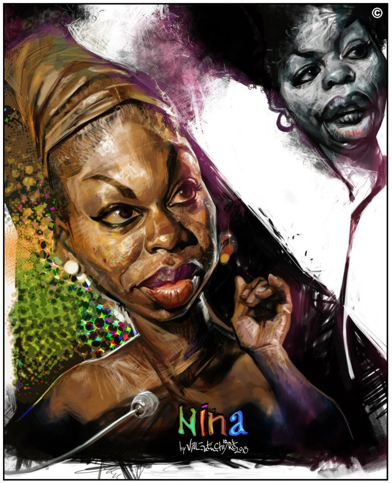 Nina Simone por Valentin Chibrit