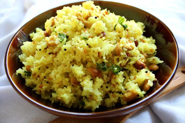 Yellow Lemon Rice with Fried CashewsYellow Lemon Rice with Fried Cashews