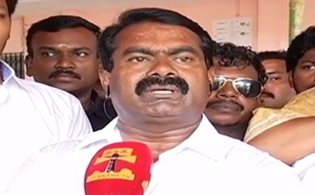 NTK Chief Seeman casts his vote in Chennai, Virugambakkam – Thanthi TV