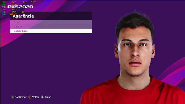 Gabriel Martinelli PES20 Face by Lucas Facemaker