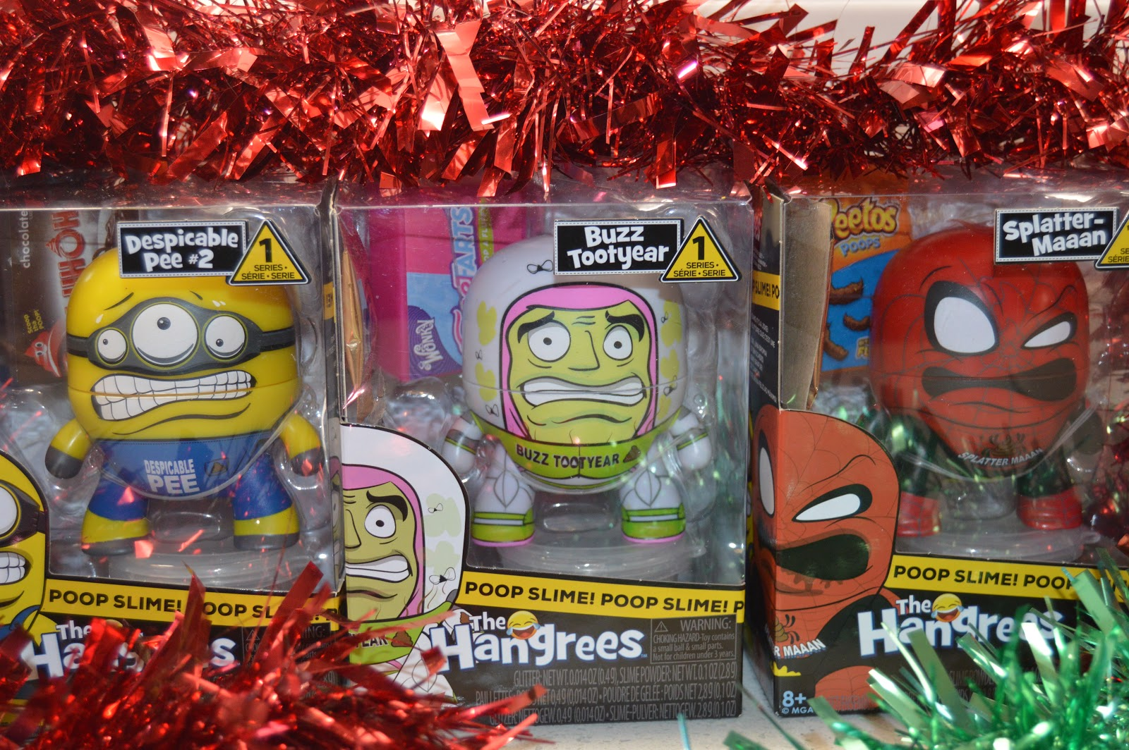Minion, buzz and spiderman hangrees