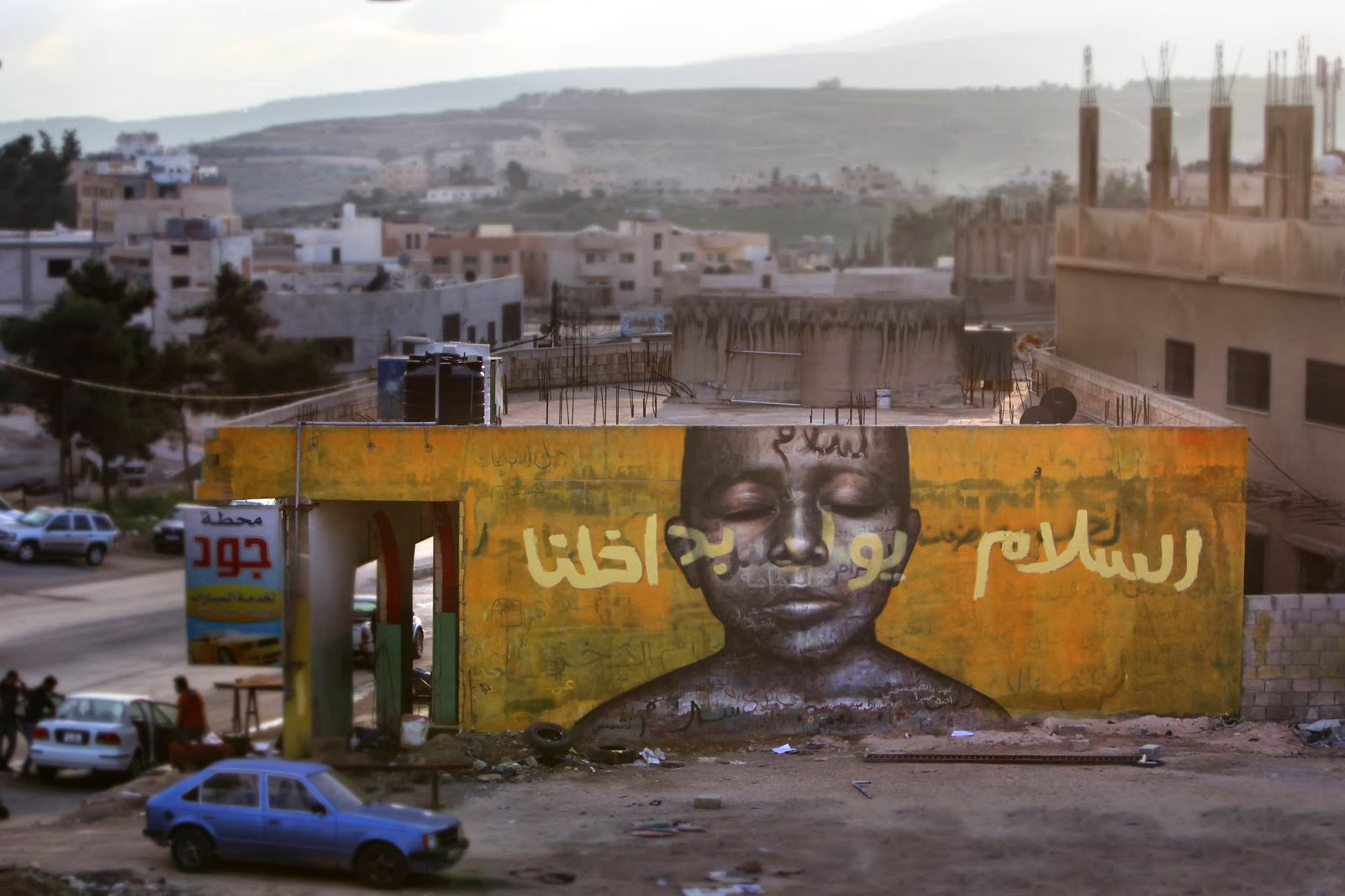 """Jonathan Darby is currently in Za'atari, Jordan where he just finished working on """"Peace Born Within"""" and """"Compassion"""" for the excellent AptART project. 1"""