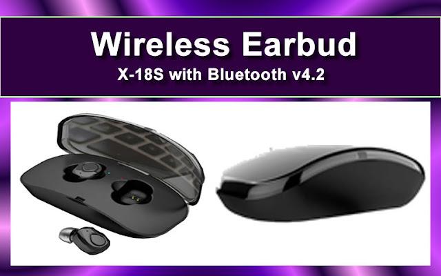 Wireless earbud x-18s