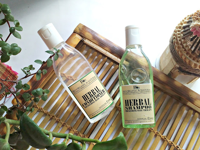 Bon Organics Herbal Shampoo and Conditioner