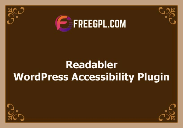 Readabler - WordPress Accessibility Plugin Free Download