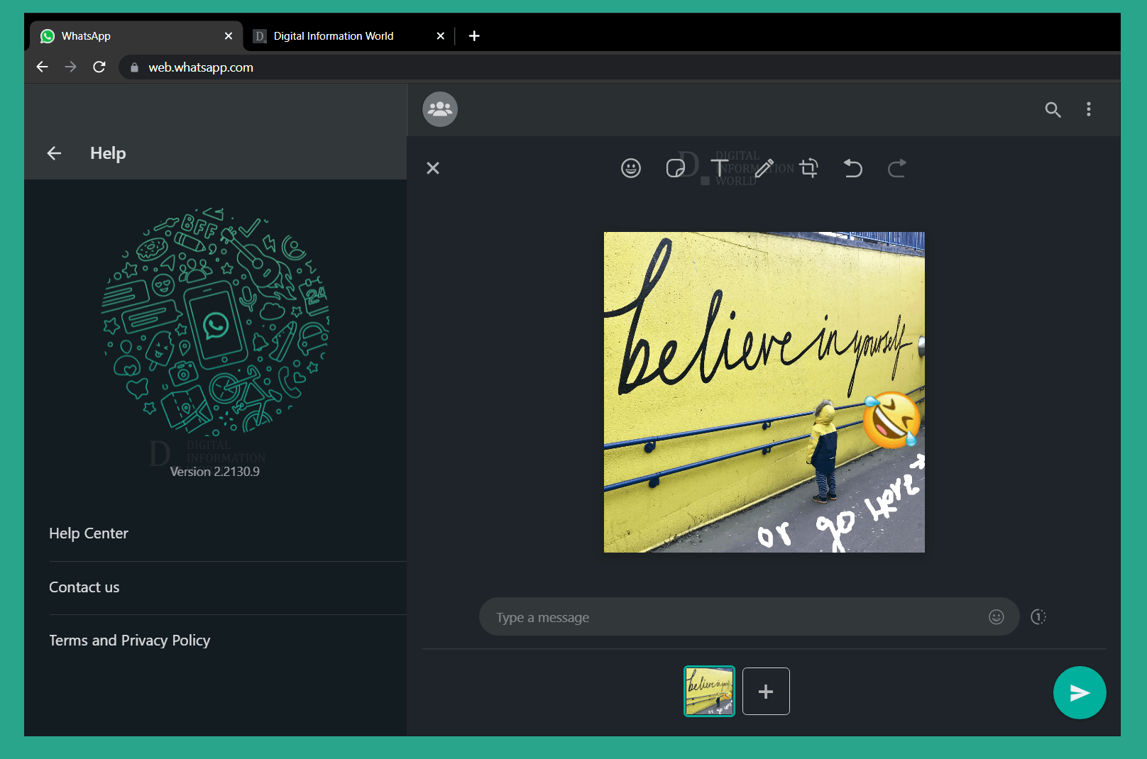 Whatsapp is rolling out its image editor on desktop devices