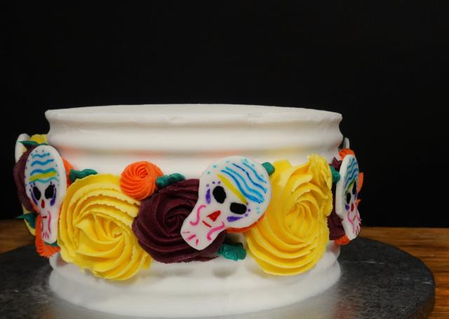 Pastel DÍA DE MUERTOS [decoración con buttercream]
