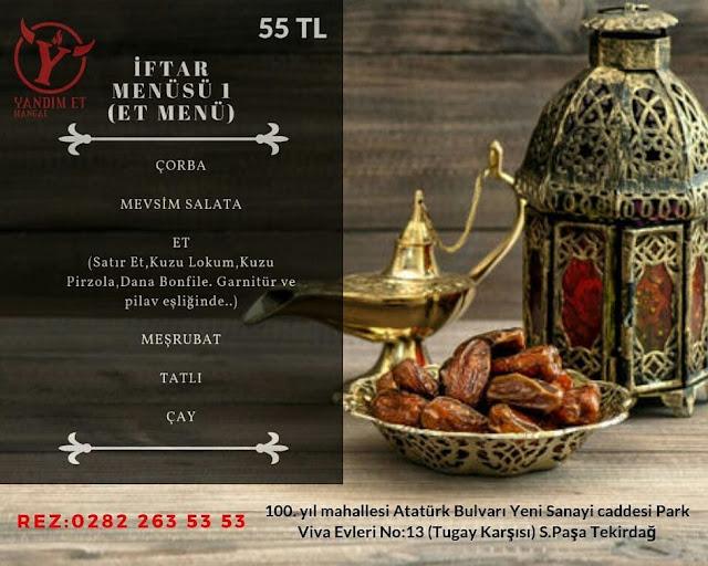 yandım et mangal iftar menüsü tekirdağ iftar menüleri tekirdağ iftar mekanları
