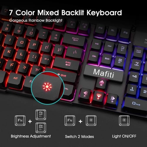 Review Mafiti RK101 Wired Gaming Keyboard Mouse Comb