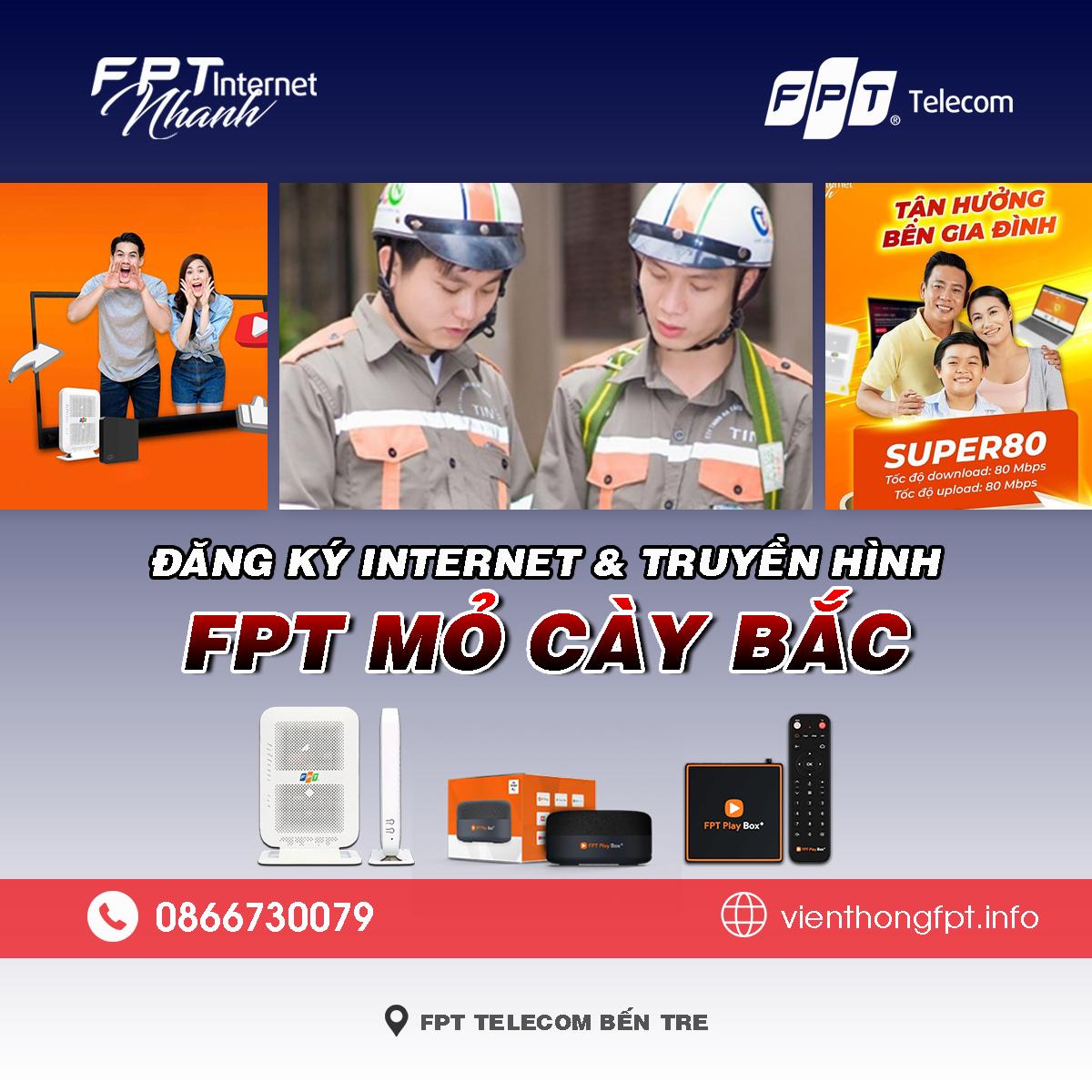 Bảng giá lắp mạng FPT Mỏ Cày Bắc