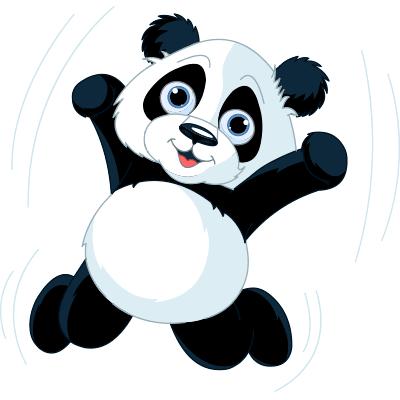 Joyful panda emoji