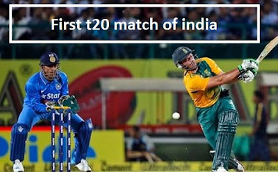 india's first T20I match