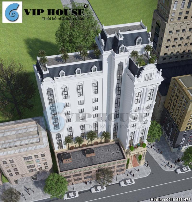 Hình ảnh: Phối cảnh từ trên cao xuống thú vị của thiết kế khách sạn tân cổ điển 4 sao tại Quy Nhơn
