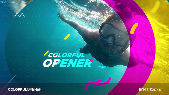 Colorful Opener Free After Effects Template - Videohive 20367299 ...