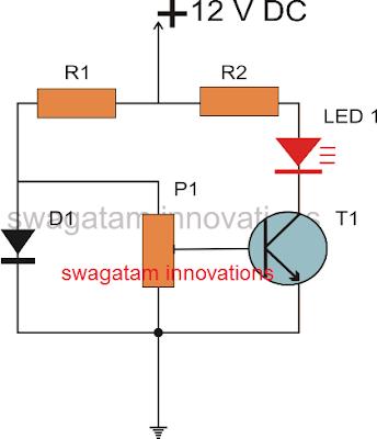 single transistor BC547 temperature sensor circuit