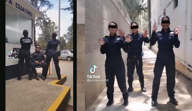 Video: Bailando el Rico, Rico en plena comandancia Estatales que no enfrentan a Cárteles Unidos ni CJNG en Michoacán se graban para El Tik Tok
