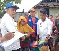 Dinsos Drop Bantuan Tanggap Darurat untuk Korban Kebakaran di Dusun Jala Nggembe