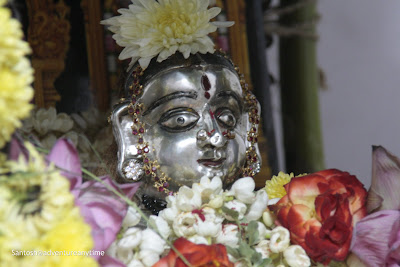Goddess Gauri idol as part of Ganesh chaturthi celebrations in the South India