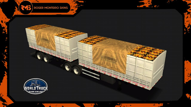 Skins Bitrem Graneleiro, Bitrem Graneleiro, Skins World Truck, Wtds, Skins Wtds
