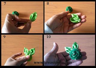Tutorial membuat kuncup mawar dari kain part 2
