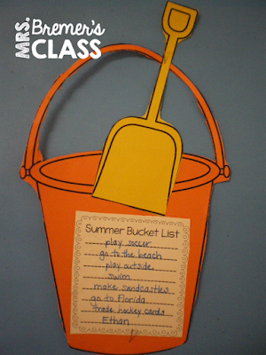 Cute! Summer bucket list craftivity- students share what they hope to do over summer break.