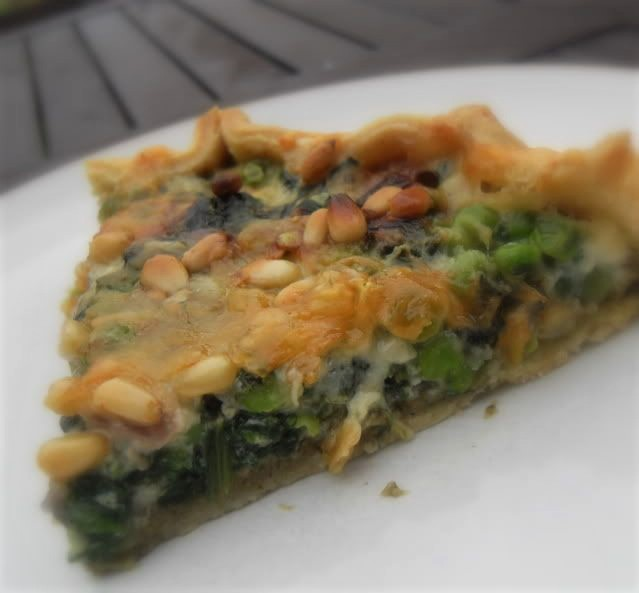 Easy Spring Vegetable & Pesto Tart
