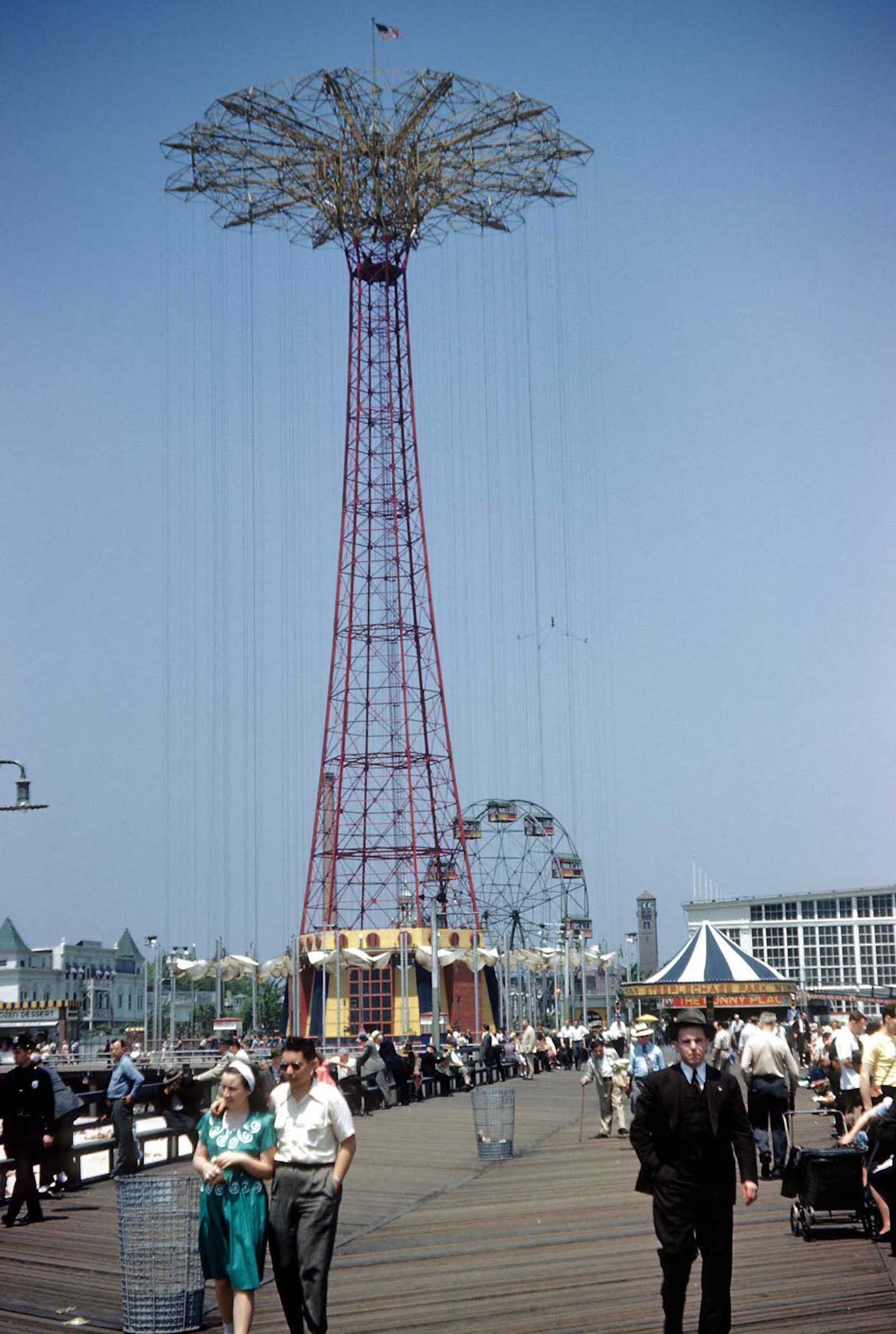coney island old color images