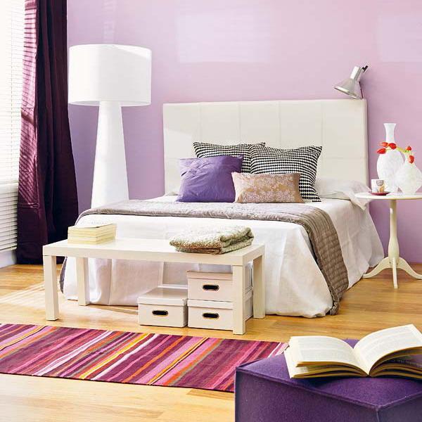 Dormitorios Con Acentos En Morado P�rpura Y Lila
