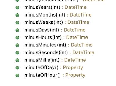 joda datetime minusDays + minusXXX methods